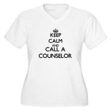 Keep calm and call a Counselor Plus Size T-Shirt