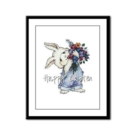 Easter Bunny Framed Panel Print