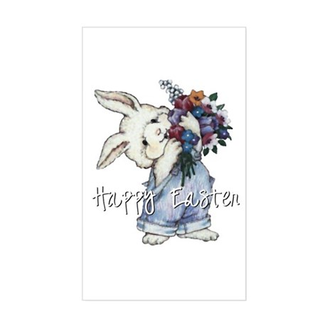 Easter Bunny Rectangle Sticker