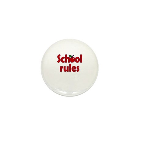 School Rules Mini Button
