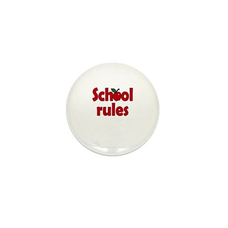 School Rules Mini Button (10 pack)