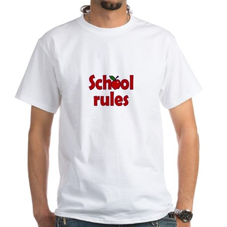 School Rules White T-Shirt