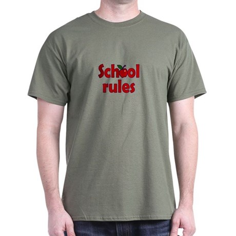 School Rules Dark T-Shirt