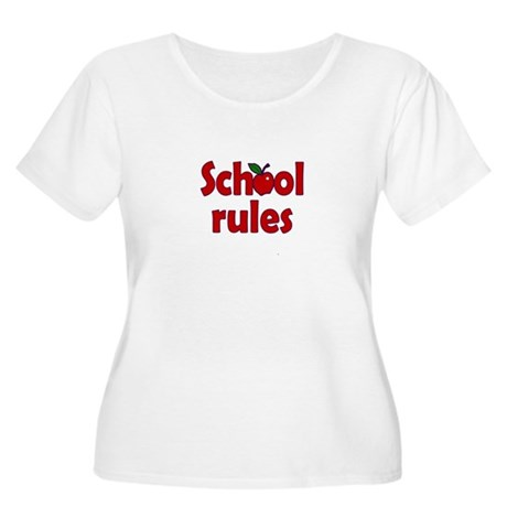 School Rules Women's Plus Size Scoop Neck T-Shirt