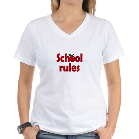 School Rules Women's V-Neck T-Shirt