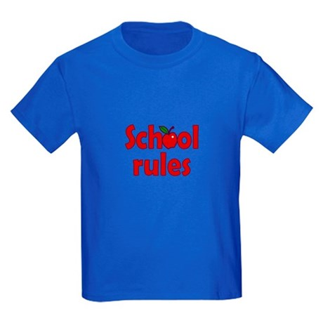 School Rules Kids Dark T-Shirt