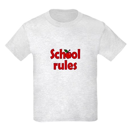 School Rules Kids Light T-Shirt