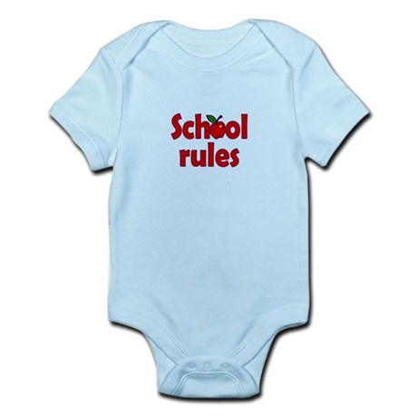 School Rules Infant Bodysuit