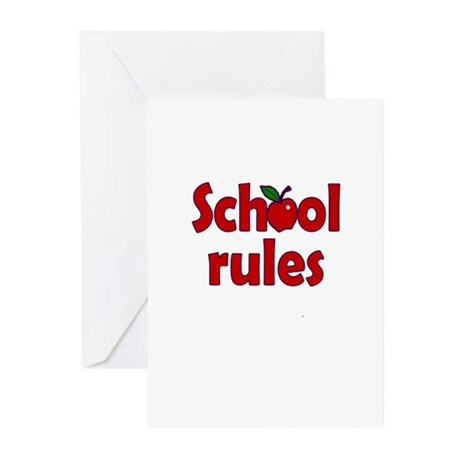 School Rules Greeting Cards (Pk of 10)