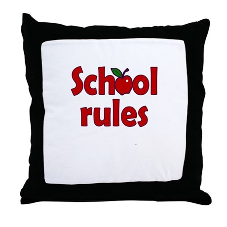 School Rules Throw Pillow