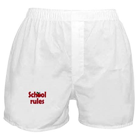 School Rules Boxer Shorts