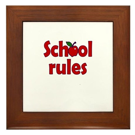 School Rules Framed Tile