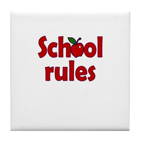 School Rules Tile Coaster