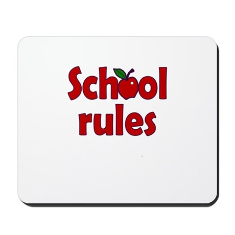 School Rules Mousepad