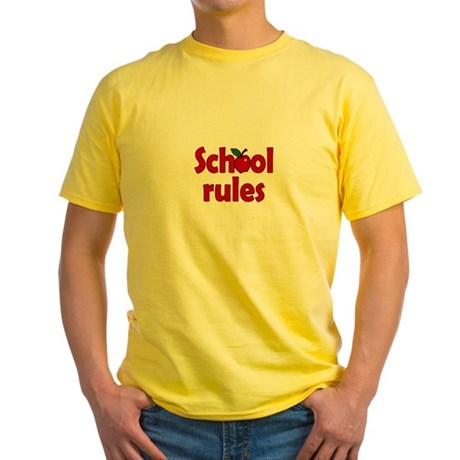 School Rules Yellow T-Shirt