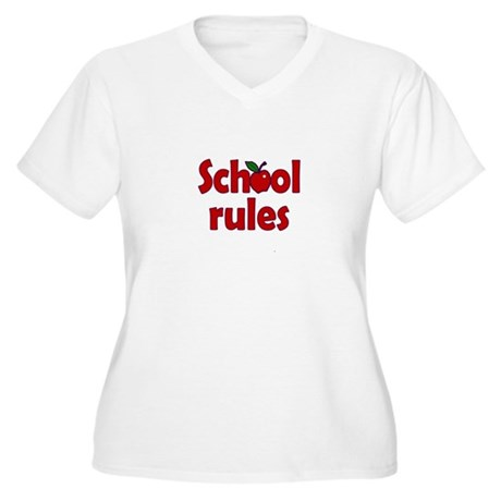 School Rules Women's Plus Size V-Neck T-Shirt