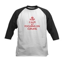 Keep Calm by focusing on Curling Baseball Jersey