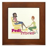 Pedicure Princess Framed Tile