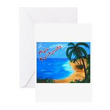 Cute Christmas hawaiian Greeting Cards (Pk of 10)