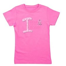Cute I wear pink ribbon for my mommy mother Girl's Tee