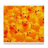 Rubber Duckies  Tile Coaster