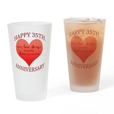 35th. Anniversary Drinking Glass