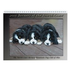 2015 Bernese Mountain Dog Wall Calendar