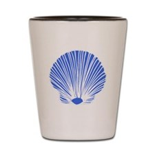 Blue Sea Shell Shot Glass