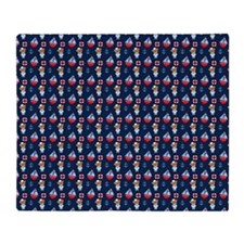 Bears and Sailboats Pattern Throw Blanket