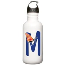Bug Letter M Water Bottle