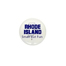 Rhode Island . . . Small but Mini Button (100 pac