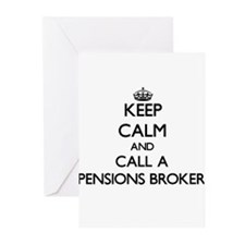 Keep calm and call a Pensions Broke Greeting Cards