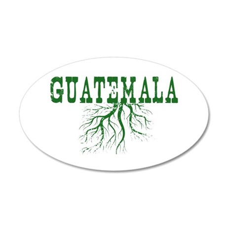 Guatemala Roots 35x21 Oval Wall Decal