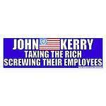 Anti-John Kerry (Tax the Rich) Bumper Sticker