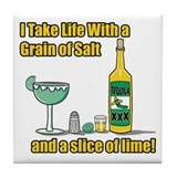 Grain of Salt Tile Coaster