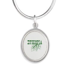 Ethiopia Roots Silver Oval Necklace