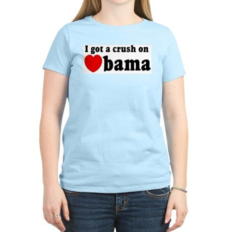 I got a crush on Obama (red h Women's Light T-Shir