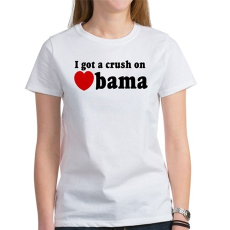 I got a crush on Obama (red h Women's T-Shirt