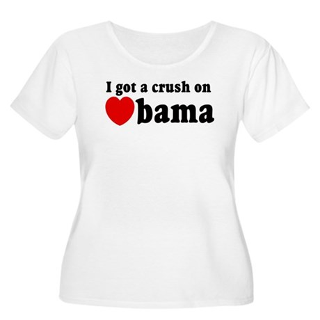 I got a crush on Obama (red h Women's Plus Size Sc