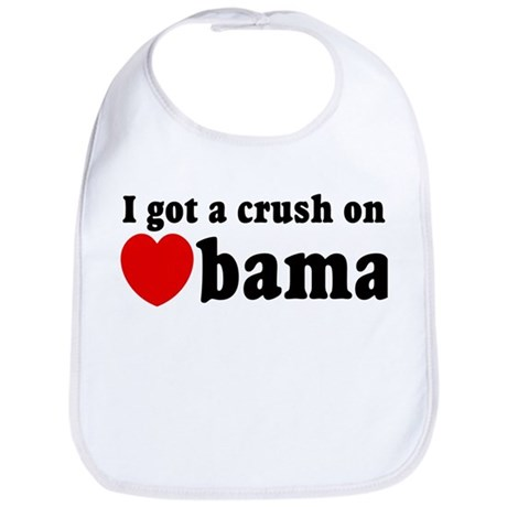 I got a crush on Obama (red h Bib