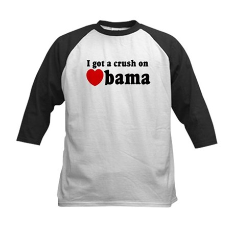 I got a crush on Obama (red h Kids Baseball Jersey
