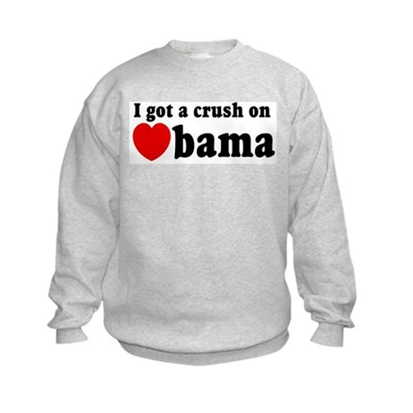 I got a crush on Obama (red h Kids Sweatshirt