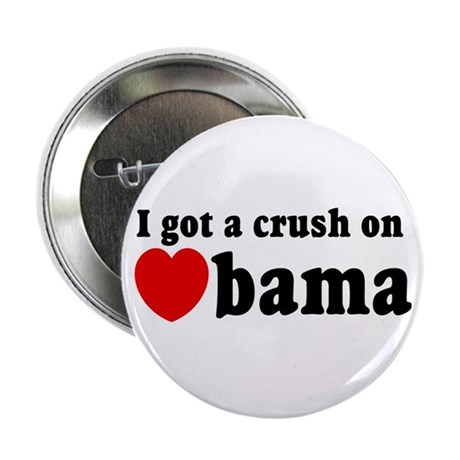"I got a crush on Obama (red h 2.25"" Button (10 pac"