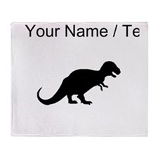 Tyrannosaurus Rex Silhouette (Custom) Throw Blanke