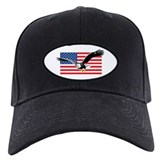 Bald Eagle and US Flag Cap