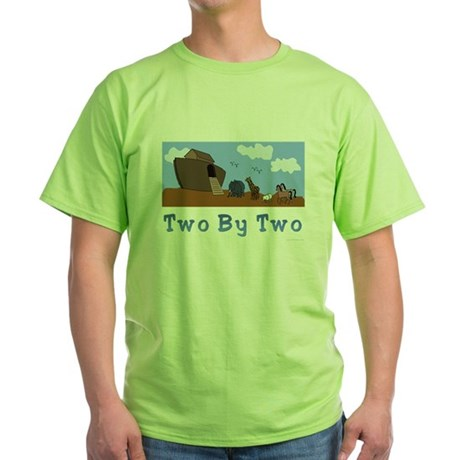 Noah's Ark Two By Two Green T-Shirt
