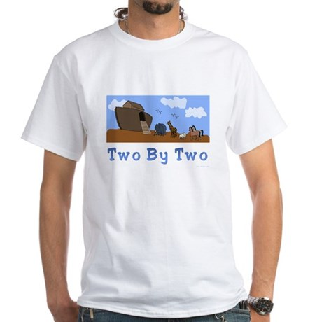 Noah's Ark Two By Two White T-Shirt