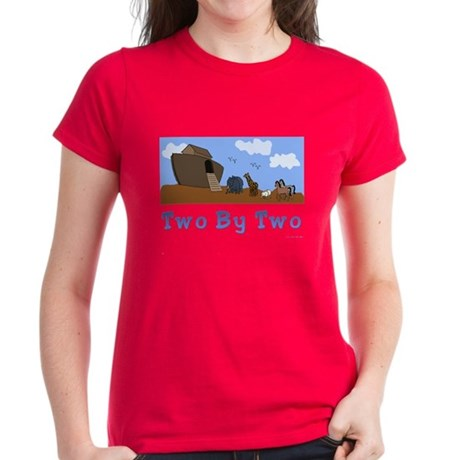 Noah's Ark Two By Two Women's Dark T-Shirt