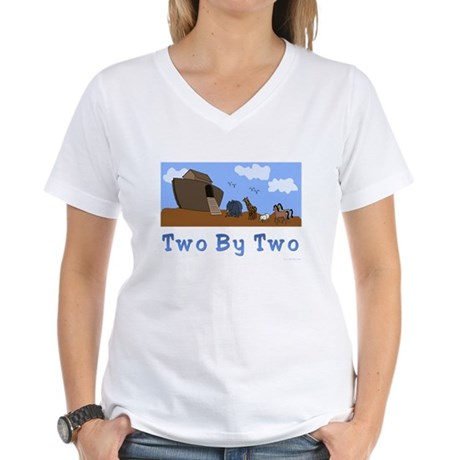 Noah's Ark Two By Two Women's V-Neck T-Shirt
