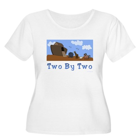 Noah's Ark Two By Two Women's Plus Size Scoo
